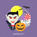 bats, gift, halloween, lollipop, moon, scary, vampire icon