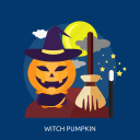 dark, halloween, magic, moon, pumkin, witch, witch pumpkin icon