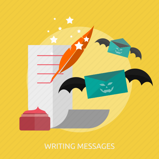 halloween, ink, magic, messages, paper, writing, writing messages icon