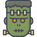 frankensetin, halloween, holiday, zombie icon