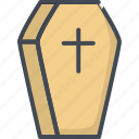 coffin, cross, halloween, holiday, rip icon