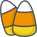 candy, corn, halloween, holiday, sweets icon