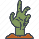 grave, halloween, hand, holiday, rip, zombie icon