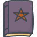 book, halloween, holiday, magic, necronomicon, witch icon