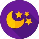 moon, night, night sky, sky, star, weather icon