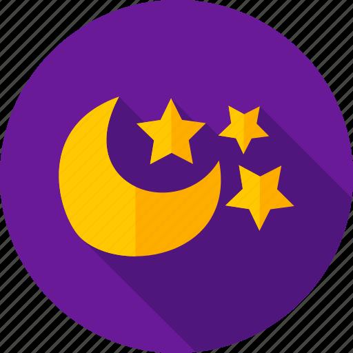 moon, night, night sky, sky, star, weather icon