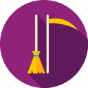 besom, broom, halloween, happy, riper, scythe, witch icon