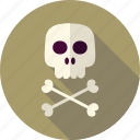 bone, crossbones, dead, death, halloween, head, skull icon