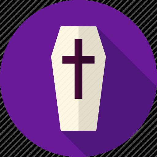 cemetery, coffin, death, grave, halloween, hearse, religion icon