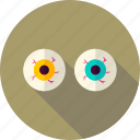 eye, eyeball, halloween, party, scary, spooky, trick or treat icon