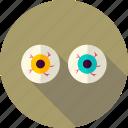 eye, eyeball, halloween, party, scary, spooky, trick or treat icon