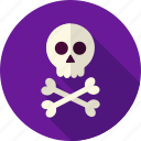 bone, braincase, crossbones, dead, death, halloween, skull icon