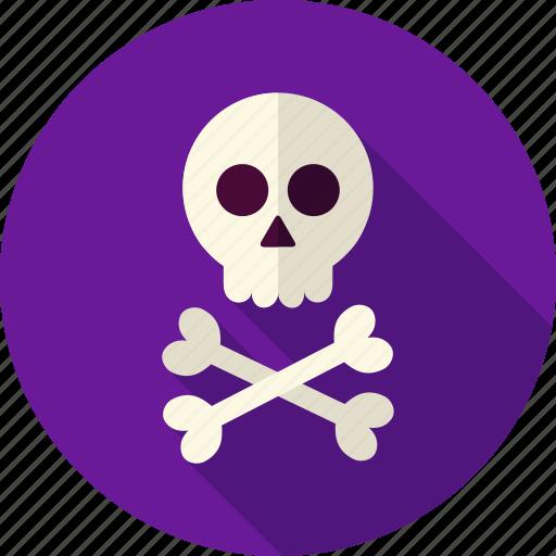 bone, braincase, crossbones, dead, death, halloween, skull icon