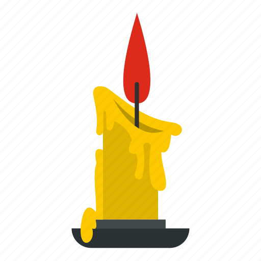 blog, candle, fire, flame, light, melting, wax icon
