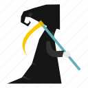 blog, dead, death, ghost, horror, scythe, spooky icon