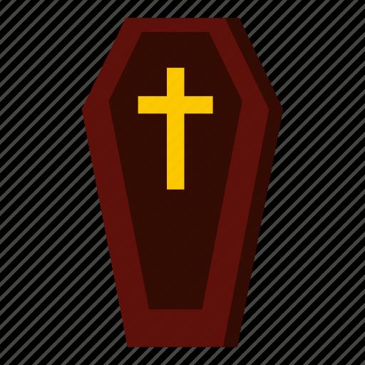 blog, coffin, cross, dead, death, grave, graveyard icon
