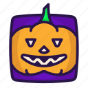 gourd, halloween, head, pumpkin icon