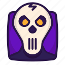 chump, halloween, head, skull icon