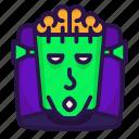 brain, frankenstein, halloween, head icon