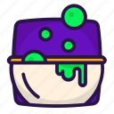 boiler, halloween, pot, witch icon