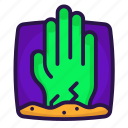 dead, halloween, hand, zombies icon