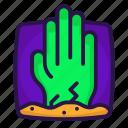 dead, halloween, hand, zombies icon