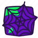 deadfall, halloween, spiderweb, trap icon