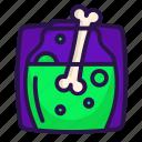 bone, decoction, halloween, recipe icon