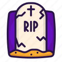 death, grave, halloween, rip icon