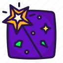 halloween, magic, sorcery, wand icon
