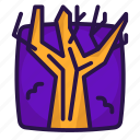 branches, halloween, snag, tree icon