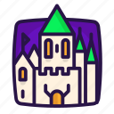 castle, halloween, knight, princess icon