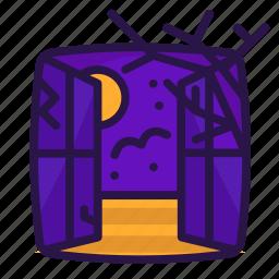 bat, branches, halloween, window icon