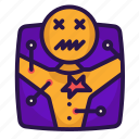 enchantment, halloween, needle, voodoo icon