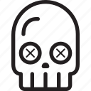halloween, holidays, skull icon