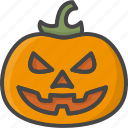 colored, halloween, holidays, pumpkin, vegetable icon