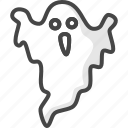 colored, ghost, halloween, holidays icon