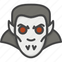 colored, halloween, holidays, vampire icon