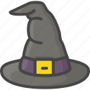 colored, halloween, hat, holidays, witch icon