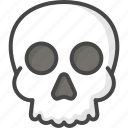 colored, halloween, holidays, human, skull icon