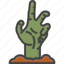 colored, halloween, hand, holidays, zombie icon