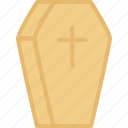 coffin, halloween, holidays, rip icon