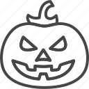 halloween, holidays, line, outline, pumpkin, vegetable icon