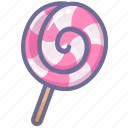 candy, lollipop, sweet icon
