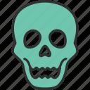 autumn, fear, halloween, holiday, horror, skull, spooky icon