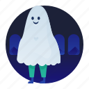 costume, ghost, halloween, scary, spooky icon