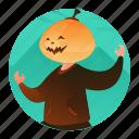 costume, halloween, mask, monster, pumpkin icon