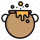 cauldron, halloween, party, witch icon