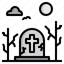graveyard, halloween, party, witch icon