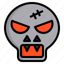 halloween, party, skull, witch icon